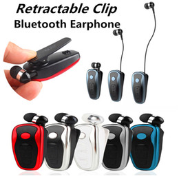 stereo clip bluetooth earphone NZ - Q7 Stereo Vibration Bluetooth Earphone Clip collar type Wireless earbuds Music Business Headphone Headset For iPhone Samsung with Retail Box