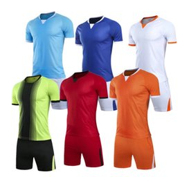 5aad89fb Custom football jersey uniforms adult children's soccer suit personalized  printed jerseys short sleeves shorts soccer practice team
