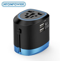 universal electronics NZ - onsumer Electronics NTONPOWER Universal Travel Adapter All in One International Power Adapter Socket Charger with 2 USB Ports Works in 15...