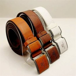 Durable Belts Australia - Man Leather Belt Smooth Buckle Waistband Solid Colour Girdle Simple Fashion Wild Joker Strong Durable White 7 2lc D1