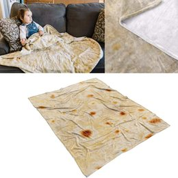 Baby Bedding Blanket & Swaddling Comfort Wrap Blanket Food Creations Pizza Hamburger Throw Perfectly Round Bathroom Carpet Polyester Tortilla Throw Home Textile To Enjoy High Reputation At Home And Abroad
