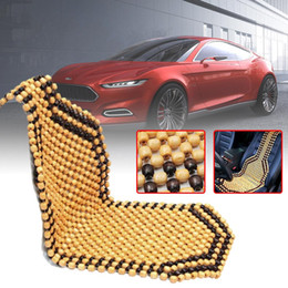 $enCountryForm.capitalKeyWord Australia - Universial Summer Cool Wood Wooden Bead Seat Cover Massage Cushion Chair Cover Car Auto Office Home 2 colors