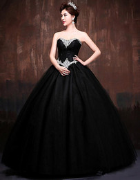 $enCountryForm.capitalKeyWord Australia - Black Yellow Ball Gowns Long Quinceanera Dresses 2019 Beaded Sweetheart Bodice Corset Prom Dresses Sparkly Pageant Sweet 16 Dresses