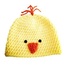 $enCountryForm.capitalKeyWord Australia - Adorable Baby Chick Hat,Handmade Crochet Baby Boy Girl Animal Beanie,Kids Earflap Spring Fall Cap,Infant Newborn Photo Prop