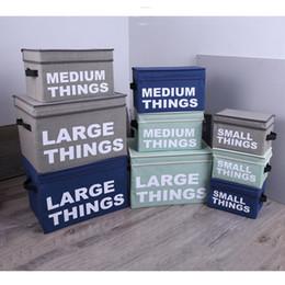 $enCountryForm.capitalKeyWord NZ - Folding Clothes Storage Baskets Box Portable Letter Print Cotton Linen Foldable Storage Bag Cloth Toy Snack Storage Box Small DBC DH0801-3