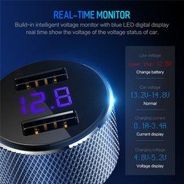 $enCountryForm.capitalKeyWord Australia - Digital Display Dual Usb Car Charger 5v 3.4a For I phone Sam sung Fast Charging Voltage Monitoring Universal