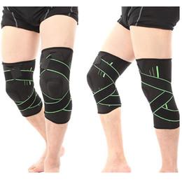 Elastic Elbow Brace Australia - 1PC Nonslip 3D Pressurized Fitness Running Cycling Bandage Knee Support Braces Elastic Nylon Sports Compression Pad Sleeve