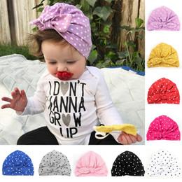 db6e87119 Discount wholesale bohemian summer hats - Baby Hat Wave Dot Bowknot Toddler  Kids Warm Cotton Soft