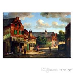 $enCountryForm.capitalKeyWord Australia - Handpainted & HD Print Thomas Kinkade COUNTRY landscape Art Oil Painting On Canvas,Home Decor Wall Art High Quality Frame Options l215