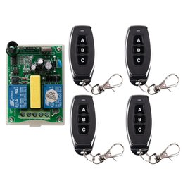 $enCountryForm.capitalKeyWord Australia - AC 220 V RF 2CH Wireless Remote Control Receiver + Transmitter tubular motor garage door projection screen 3 button