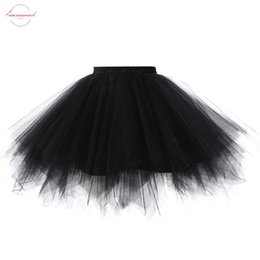 womens purple tutu Australia - 2019 Princess Midi Fairy Tulle Skirt Pleated Dance Tutu Skirts Womens Lolita Petticoat Jupe Tulle Femme Party Puffy Skirts