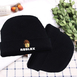 cool winter beanies for men NZ - Roblox Games Hat Rock Band Symbol Knitted Cotton Hat Cap Cosplay Costume Unisex Cool Hat for Game Fan Gift