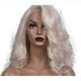 platinum hair wigs NZ - H Transparent Lace Platinum Blonde Wavy Human Hair Wigs 13x6 Lace Front Wigs Body Wave Blonde Full Wig For Women Human Hair