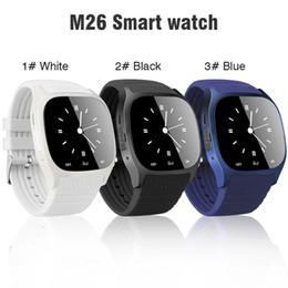 Camera Controls NZ - M26 smartwatch Wirelss Bluetooth Smart Watch Phone Bracelet Camera Remote Control Anti-lost alarm Barometer V8 A1 U8 watch for phone