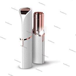 $enCountryForm.capitalKeyWord Australia - New Lipstick Facial Hair Remover White Mini Portable Body Epilator 18K Gold Plated Women Painless Hair Removal Shaving Hair Removal device.