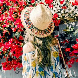 $enCountryForm.capitalKeyWord Australia - 2019 Female Beach Hats Women Color Tassel Summer Straw Outdoor Sun Hats for Women hat summer korean hat