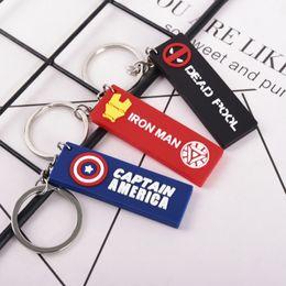 iron man keyring 2019 - Marvel Key chain Anime Keychain Men Keyring Keychains Women Thor Hammer Iron man Thanos Key Ring cheap iron man keyring