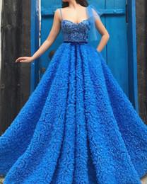 Arabian Plus Size Dresses Australia - 2019 Elegant Arabian Dubai Ball Gown blue Prom Dresses Gorgeous Sweetheart Tulle long dresses Graduation Party Evening Gowns robe de soiree