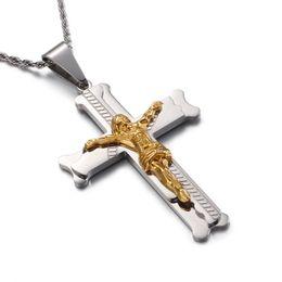 Chain Guards Australia - Jesus Big Cruz Pendants Necklace For Men Women Christian bff Supernatural Guard Jewelery Free Shipping