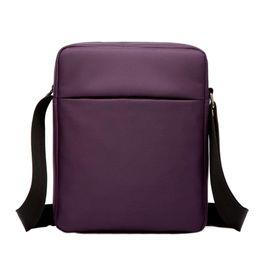 Purple Tablet Bag Australia - FashionCasual Waterproof 10inch Tablet Oxford Fabric Messenger Crossbody Shoulder Bag