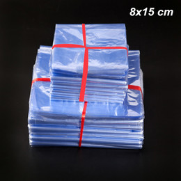 $enCountryForm.capitalKeyWord Australia - 300 Pcs Lot 8x15 cm Clear PVC Heat Shrinkable Wrapping Film Commodity Cosmetics Packing Bags Heat Shrink Transparent Storage Packing Pouches