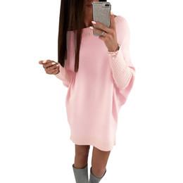 $enCountryForm.capitalKeyWord NZ - 2019 Spring Fashion Women T-Shirt Dress Batwing Sleeve Casual Short Party Dresses Elegant Ladies Loose Long Tee Shirt Mini Dress
