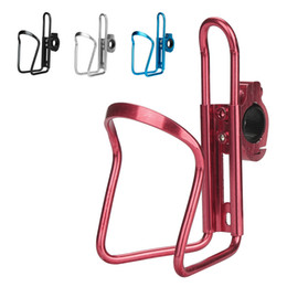 Aluminum Alloy folding bikes online shopping - Cycling Bike Bicycle Aluminum Alloy Handlebar Water Bottle Holder Cages Strongly gripped hinge fix holder tightly