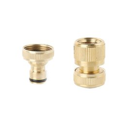 garden hose quick UK - High Pressure Washer Adapter Copper Car Washing Machine Water Connector Quick Connection Garden Hose Pipe Fitting
