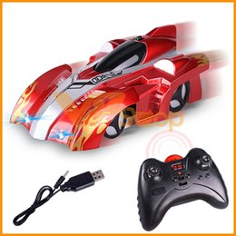 remote car toys for boys 2020 - Remote Control Wall Climbing Stunt Climber RC Car LED Lights Glass Floor Charging Car Model Electric RC Car Toys for Boy