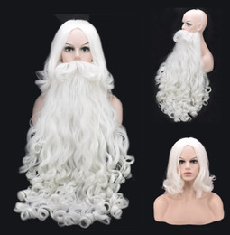 $enCountryForm.capitalKeyWord NZ - Santa Claus Christmas Cosplay Wig Beard White Curly Long Synthetic Hair Adult Women Men New Hot Sale Fashion Style Role Playing Costumes