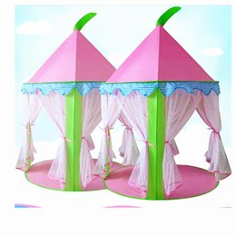camping toys for kids Canada - FIRECLUB Indoor mesh princess children's tent play house children's toy house tent toy Playhouses For Kids