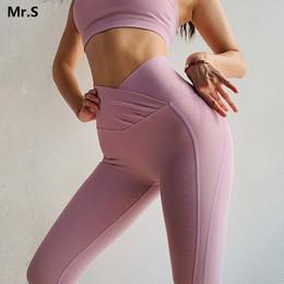 Pink Yoga Pants Leggings Australia - Le Nakai Pink Flex Booty Yoga Leggings For Women High X Waisted Push Up Yoga Pants Scrunch Butt Workout Fitness Legging Gym Wear C19040301