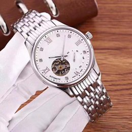 Japanese dress buckle online shopping - AAA Luxury Men s Watch High grade stainless steel Japanese Automata Core Fashion Business Dress Clock Sapphire Glass Flywheel WristWatch