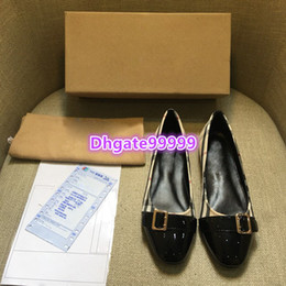 0ae6999f7f37 women round toe flat shoes slip-on patent leather plaid loafers ballerina flat  shoes luxury designer 2019 spring flat loafer shoes