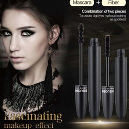 $enCountryForm.capitalKeyWord Australia - 1 Set 3D Fiber Density Waterproof mascara lengthens eyelashes Makeup Eyelash Long Curling Mascara de cils en fibre de soie thick