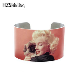 $enCountryForm.capitalKeyWord UK - 2019 Trendy Marilyn Monroe Quotes Bangle Cuff Jewelry Adjustable Printed Cuffs Bracelet Actress Bangles Gifts Fans Fashion