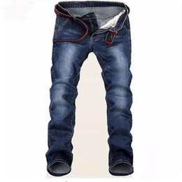 Wholesale prices jeans new resale online – designer Free Delivery New Large Blue Elastic Men Jeans Slim Fit Straight Denim Pants Cheap Price Men s Jean Skinny Homme
