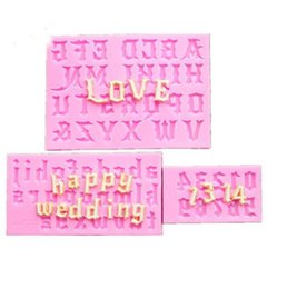 $enCountryForm.capitalKeyWord Australia - Factory Wholesale One Suit Letter Chocolate Cookies Ice Cube Silicone Mold Tray Baking Mold Cake Maker DIY Ice Mold Pink color DIY Molds