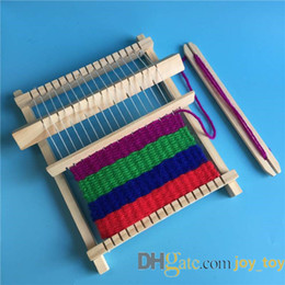 Wholesale loom knitted resale online - Wooden Weaving kit for Beginner and Children Weaving Frame Loom Handcraft Mach Handcraft Machine DIY Hand Knitting Weaving Machine Loom