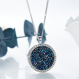 $enCountryForm.capitalKeyWord Australia - Baffin Luxury Genuine Crystals From Swarovski Maxi Round Pendant Necklace Silver Color For Women Party Wedding Accessories Gifts Y19061703