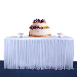 $enCountryForm.capitalKeyWord Australia - LanLan High-end Stretch Yarn Elegant Mesh Fluffy Tutu Table Skirt for Party Wedding Birthday Party Home Decoration