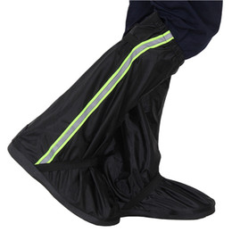 bikes shoes Australia - Men Women Reflective Tape Rain Boot Long Adults Protectors Bike Cycling Waterproof Shoe Cover Motorcycle Oxford Cloth Non Slip