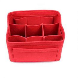 $enCountryForm.capitalKeyWord Australia - Felt Insert BagFelt Bag Makeup Package Mid Package High Capacity Cosmetic Toiletry Bags Fits in Speedy Sell Well 13lc k1