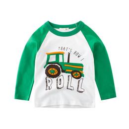 Baby Shirts Animal Patterns UK - 2019 Spring Summer Europe America Boys T-shirt Car Pattern Children Sports t-shirt Kids Base Shirt Baby Long Sleeve Tees 2-8year