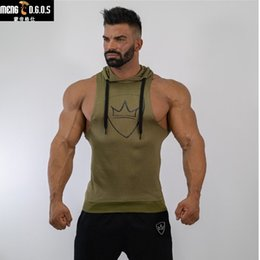 $enCountryForm.capitalKeyWord Australia - Autumn Men Sleeveless Hoodies gyms Fitness Bodybuilding cotton Sweatshirt Casual fashion male workout Hooded Sportswear clothing