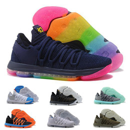 3d654c7bc1f 2019 New Zoom KD10 Mens Basketball Shoes Classic Fashion Triple Black  Rainbow PE BHM Red Oreo USA Kevin Durant 10s Sports Sneakers Shoe