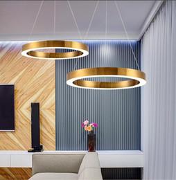 Acrylic Hanging Pendant Light Australia - Gold Fashion Modern LED Pendant Light Fixtures Ring Shape Acrylic Droplight For Dining Room Hanging Lamp Indoor Lighting