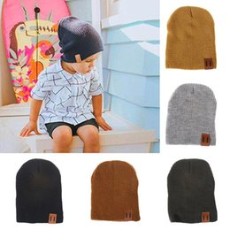 $enCountryForm.capitalKeyWord Australia - Unisex Newborn Baby Boys Girls Acrylic wool Hat kids Crochet Hats Soft Cute Autumn Winter infant Knit Beanie Caps 9 colors C1346
