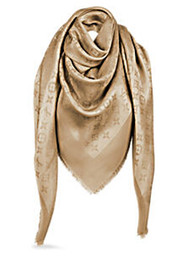 gold beads long chain designs NZ - Factory Sell Top Quality Celebrity design classic Wool cashmere scarf Wrap shawl Letter printing Scarves 140*140cm beige Gold thread