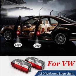 Lighted Car Logos Australia - 2X Car Ghost Shadow Door Weclome Light Logo Projector For VW Passat B6 B7 Tiguan Jetta MK5 MK6 CC EOS Golf5 6 7